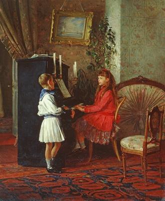 Children at the Piano, 1886