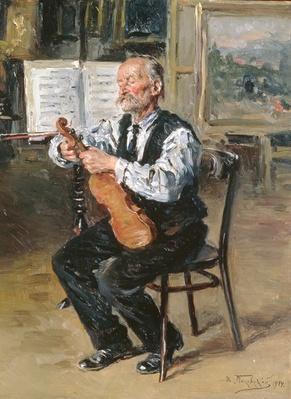 A Violin Maker, 1914