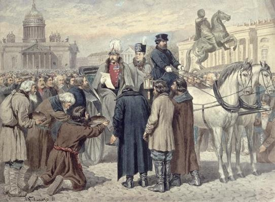 Emperor Alexander II proclaiming the Emancipation Reform of 1861, 1880