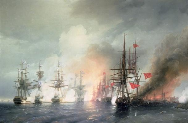 Russian-Turkish Sea Battle of Sinop on 18th November 1853, 1853