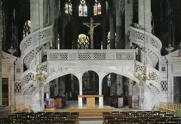 View of the rood-screen, built in 1525-35