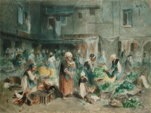 Market in the Town Square, 1847