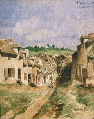 A Street in Saint-Germain, Seine-et-Oise, 1866