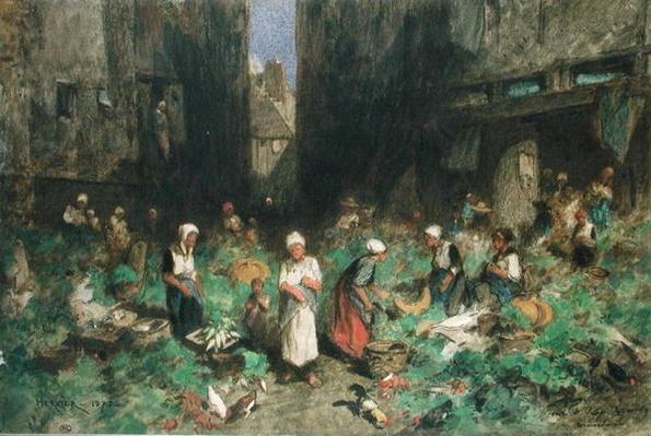 The Vegetable Market, 1872