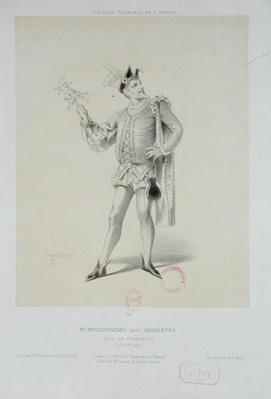 Portrait of Mr. Melchissedec as Rigoletto in 'Rigoletto' by Verdi