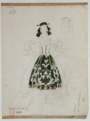 """Costume design for opera """"Cavalleria Rusticana"""" by Pietro Mascagni"""