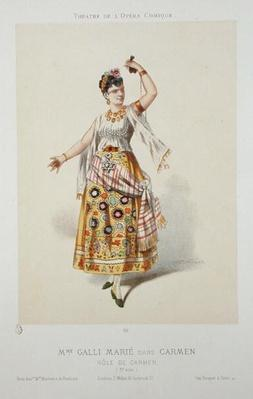 Galli Marie in the role of Carmen in 'Carmen' by Georges Bizet