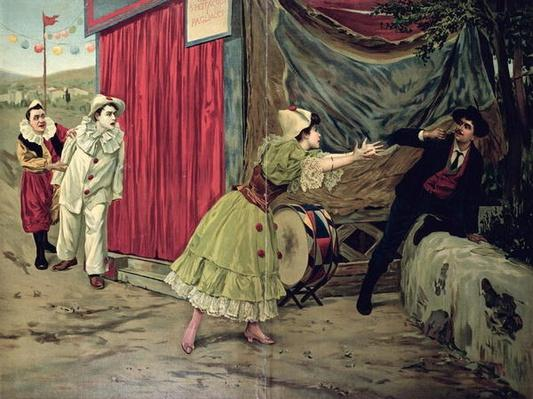 Scene from the opera 'Pagliacci' by Ruggiero Leoncavallo
