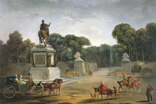 The Entrance to the Tuileries from the Place Louis XV in Paris, c.1775