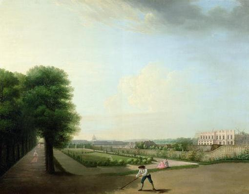 The Construction of the Place Louis XV from the Garden of the Hotel de Resnel, c.1760