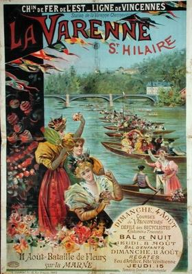 Poster advertising the Chemin de Fer de l'Est