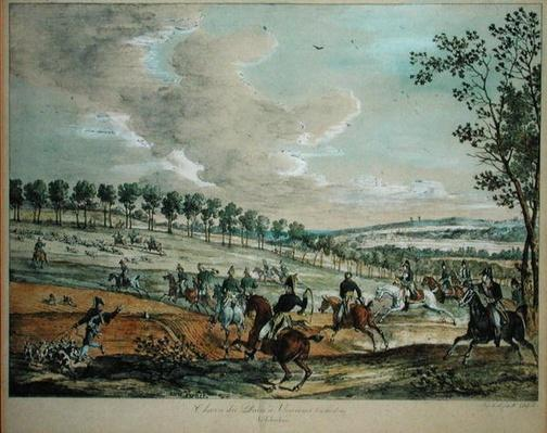 Hunting Deer at Verrieres, 29th April 1819