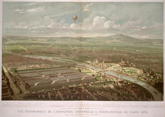 Panoramic view of the Exposition Universelle, Paris, 1878