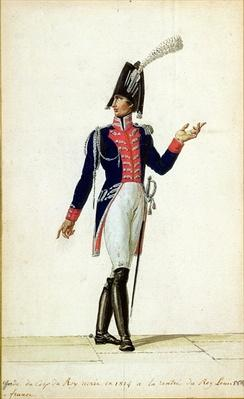 Officer of the Garde du Corps of King Louis XVIII