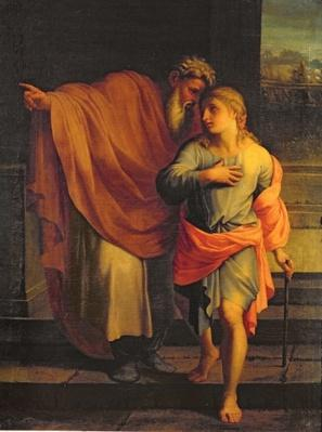 Jacob Sending his Son, Joseph, to Look for his Brothers at Sichem or Tobias Receiving Instructions from his Brothers
