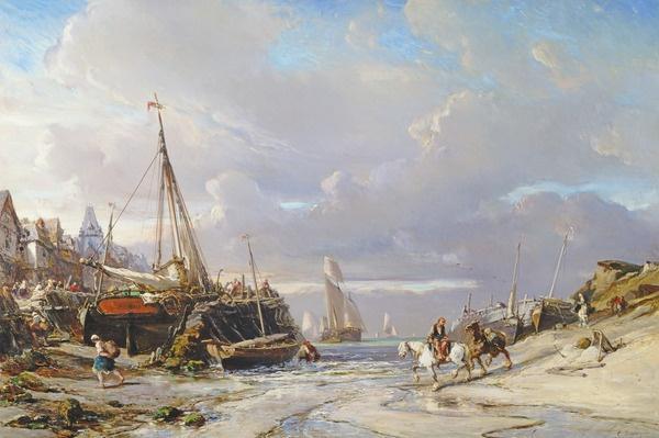Port en Bretagne, 1861