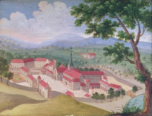General view of the Abbey from the east, from 'l'Abbaye de Port-Royal', c.1710