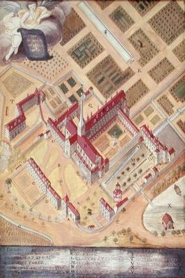 Perspective view of the Abbey, from 'l'Abbaye de Port-Royal', c.1710
