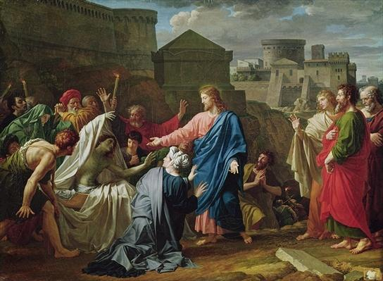 Jesus Resurrecting the Son of the Widow of Naim