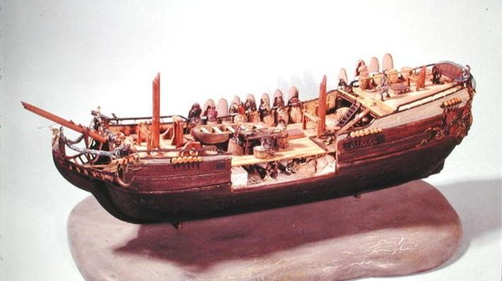 Model of a fishing boat