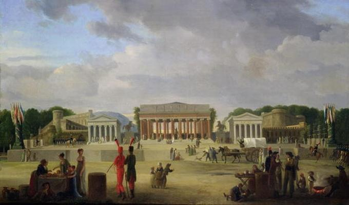 View of the Grand Theatre Constructed in the Place de la Concorde for the Fete de la Paix, 9th November 1801