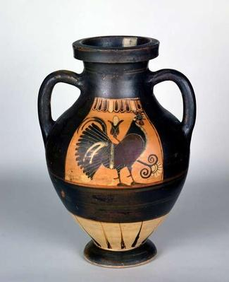 Amphora depicting a cockerel, Corinthian Style