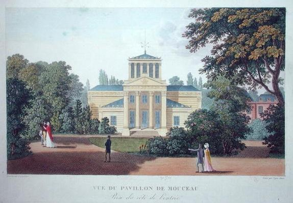 View of the Pavillon de Monceau from the Entrance, engraved by Nyon Jeune, 1816