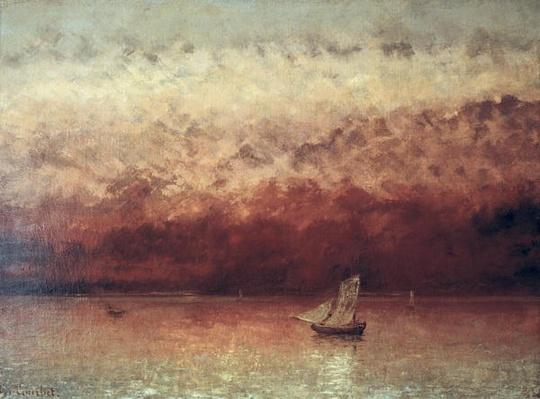 Lake Leman with Setting Sun, c.1876