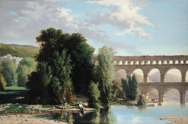 View of the Pont du Gard, 1859