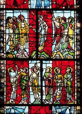 Window depicting the Ascension, c.1145