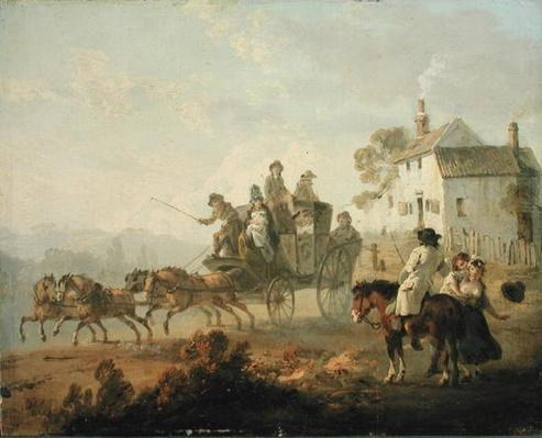 A Stage Coach on a Country Road, 1792