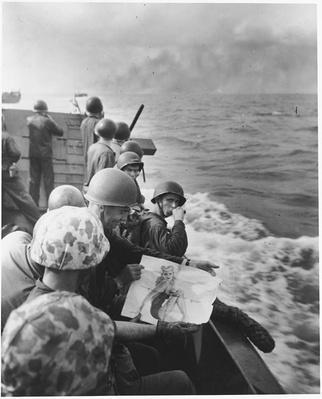 Enjoying a Pin-Up En Route to Tarawa | Ken Burns: The War