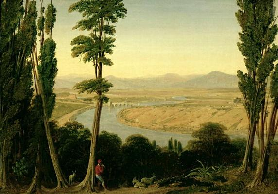 A View of the Tiber and the Roman Campagna from Monte Mario, 1829