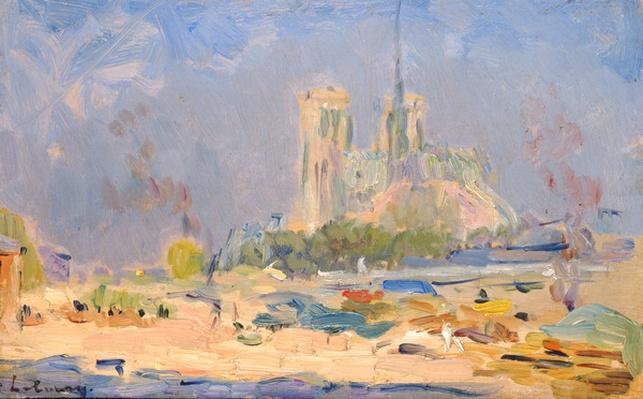 Quai de la Tournelle and Notre-Dame de Paris, 1884