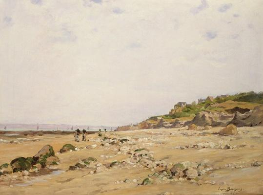 The Beach at Villerville, 1887