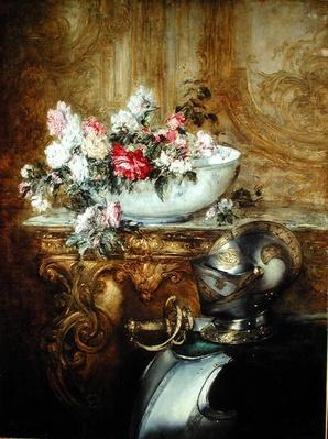 Still Life of a Bowl of Flowers