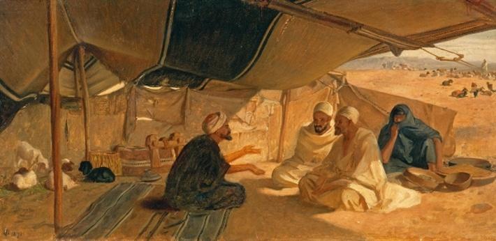 Arabs in the Desert, 1871
