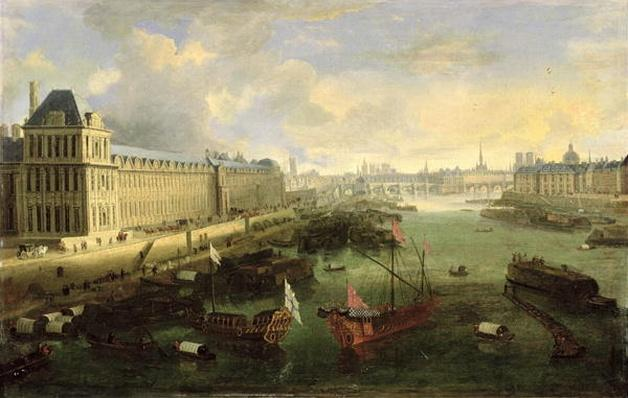 The Seine Viewed with the Pont Neuf, the Louvre and the College Mazarin, c.1675