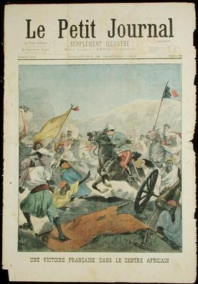 A French Victory in Central Africa, from 'Le Petit Journal', 26th January 1902
