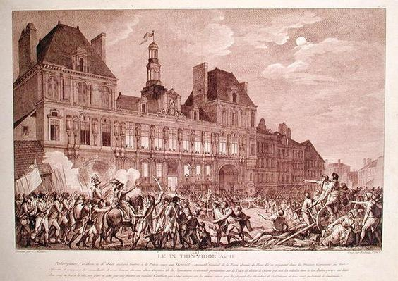 Robespierre, Saint-Just, Couthon and Hanriot Taking Refuge in the Hotel-de-Ville in Paris, 9 Thermidor Year II