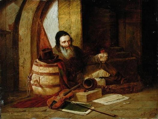 A Jewish Violinist at Rest, 1871