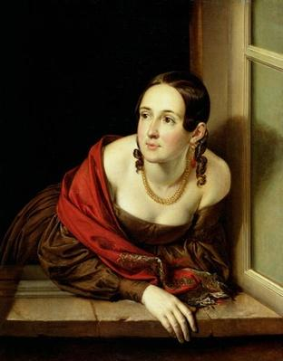Woman at her Window or, The Wife of a Treasurer, 1841
