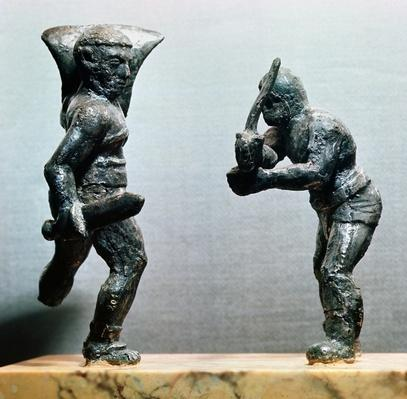 Two gladiators in combat