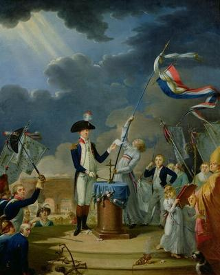 The Oath of Lafayette at the Festival of the Federation, 14th July 1790, 1791