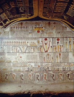 Detail of the Book of the Earth, from the burial chamber of the Tomb of Ramesses VI