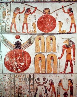Detail from the Book of the Earth, from the burial chamber of the Tomb of Ramesses VI