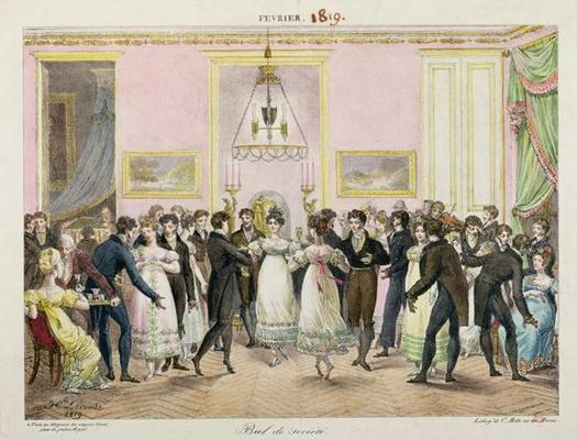 A Society Ball, engraved by Charles Etienne Pierre Motte