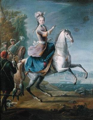 Equestrian Portrait of Maria Leszczynska