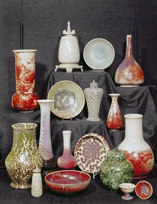 Collection of Ruskin ware