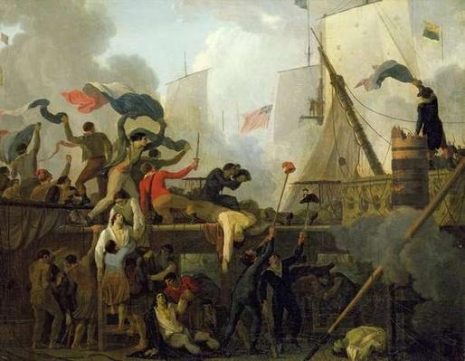 Heroism of the Crew of 'Le Vengeur du Peuple' at the Battle of Ouessant, 1st June 1794